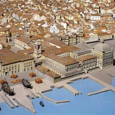 Museu de Lisboa - Palácio Pimenta Maqueta de Lisboa antes do Terramoto de 1755