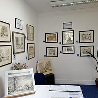The George Allen Art Gallery featuring paintings of Altrincham and Hale.