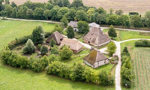 """Die Baugruppe Mittelalter mit unseren ältesten Gebäuden, sogenannten """"Schwedenhäusern"""""""
