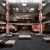 L'esposizione permanente del Museo Kartell che si sviluppa sui tre piani della sala mostre storica. Foto by Simona Pesarini