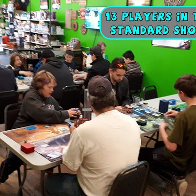 We host FREE Magic: The Gathering tournaments every Thursday evening, beginning at 6:00pm.  Players get a chance to compete for fun, and some lucky participants each week will also win prizes!