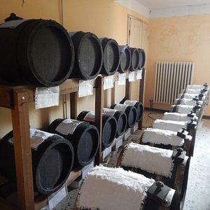 Barrels of Balsamic vinegar.