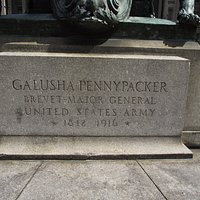 PA - PHILADELPHIA - PENNYPACKER MONUMENT - INSCRIPTION ON BASE