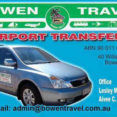 Bowen Travel Airport Transfers offers personalised meet and greet airport transfers Bowen Area to airport and return. We also offer transfers to Port of Airlie.  Our friendly and courteous drivers meet all flights in Proserpine Airport.
