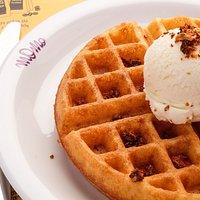 Waffle com Gelato !