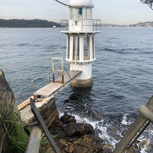 The actual Robertson Point light at Cremorne Point