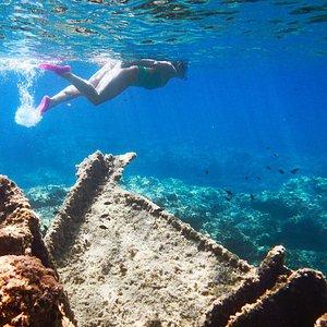 Snorkeling nell'oasi di Seu, relitto di seu