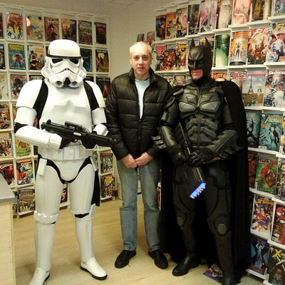 Batman and a Stormtrooper popped in for a visit!