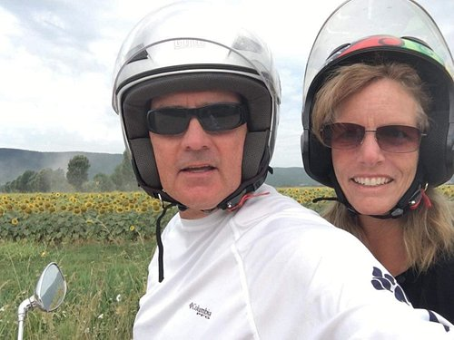 Fun way to get out and see the sunflowers!