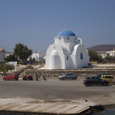 la iglesia Agia Marina en Antiparos Port