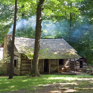 The famous Tatum Cabin