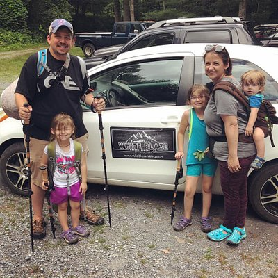 A family enjoying our reptile & amphibian nature hike