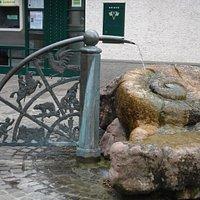 Ammoniten Brunnen i Bregenz