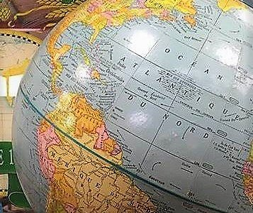 Great assortment of unique items. Nice vintage globe to remind us of our travels.