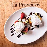 Avocado Toast at La Provence looks like a work of art!
