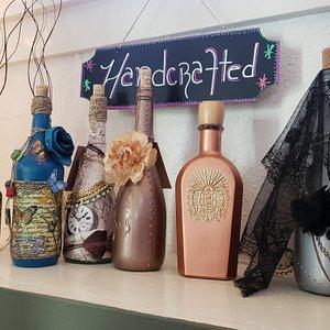 Handcrafted altered bottles