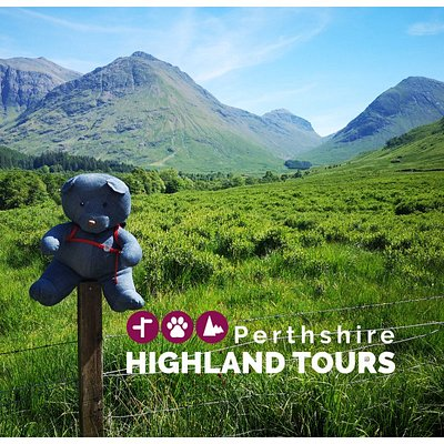 Highland Bear loves visiting the majestic landscape of Glen Coe.  It's a firm favourite for visitors to Scotland.