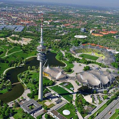 Olympiapark von oben
