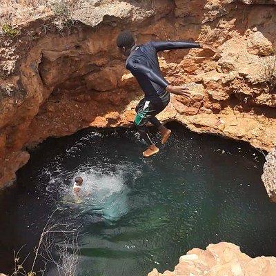 Cenote con salto
