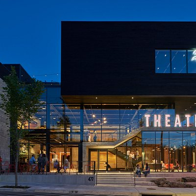 TheatreSquared's new home is an architecturally significant new cultural landmark in downtown Fayetteville, Arkansas. Photo by Tim Hursley.