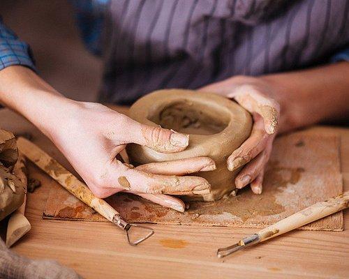 Процесс работы с глиной