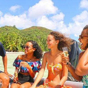 Pure paradise.. Best  island hopping experience around Praslin  Island.