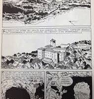 Comic book Martin Mystere set at cave of Mithra