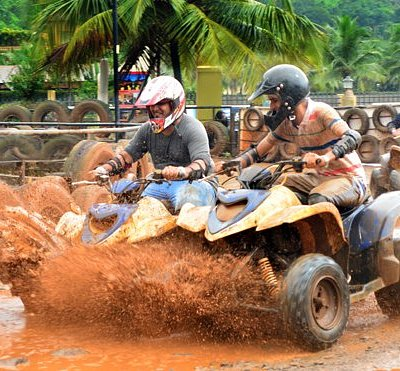 ATV 200cc Polaris:- Get the adrenaline rushing as you speed through on India's first permanent dirt track and show off your off-road skills.