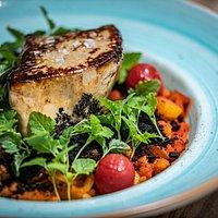 Grilled foie gras, letcho, spetzle