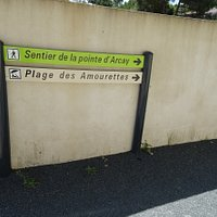 The Plage des Amourettes is where the hike starts along the beach
