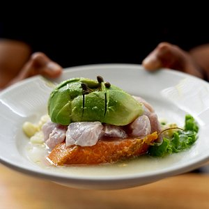 Ceviche with avocado
