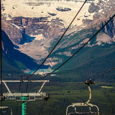View from the Gondola of Lake Louise.