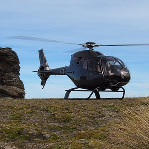 Typical Central Otago schist rock tors at an alpine landing site.