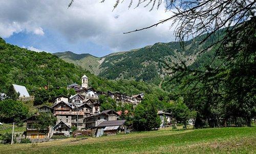 Panorama di Bagni di Vinadio.