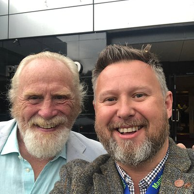 Me with James Cosmo
