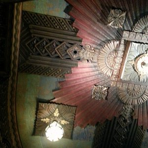 I love the ceiling in the theater.