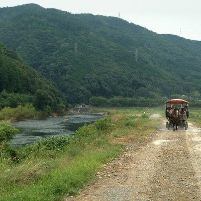 後面還跟著一輛龜岡市區巡迴馬車