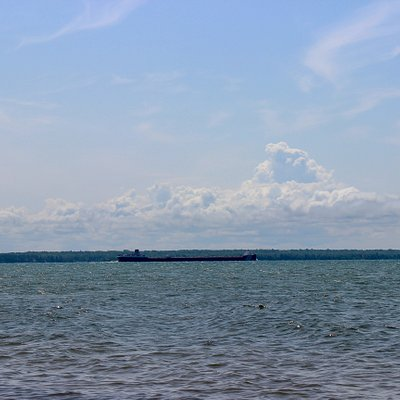 a barge on Lake Superior