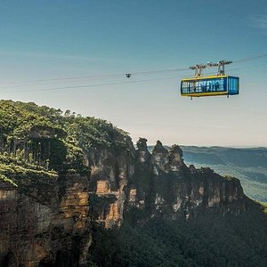 Skyway with Three Sisters in Background