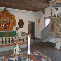 Inne i Elleholms kyrka i Elleholm utanför Mörrum