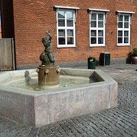 Fontänen Triton i Nexö på Bornholm