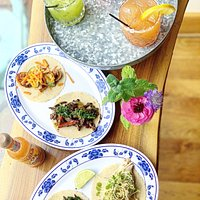 Cold pressed juice Margs & tacos!