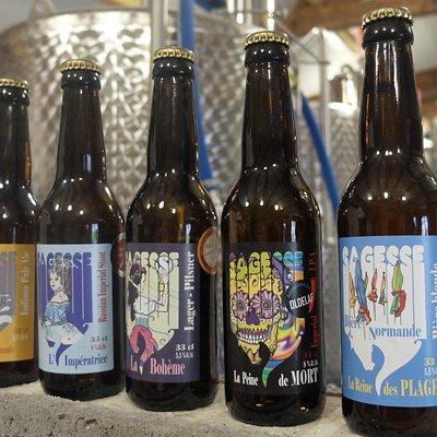 La gamme des bières de la brasserie
