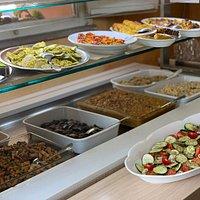 Buffet vegetariano del pranzo