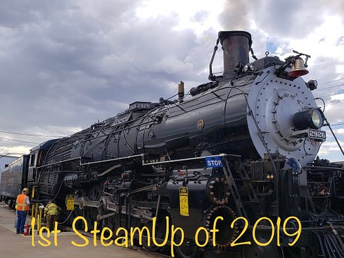 July 29, 2019, the AF&SF 2926 crew fired the locomotive for static testing.  It was a 100-degree day at 1833 8th St. but it was a lot hotter in the 2926.  Much hard work led to this second steam up (2018, 2019) and she passed all her tests! More to come...