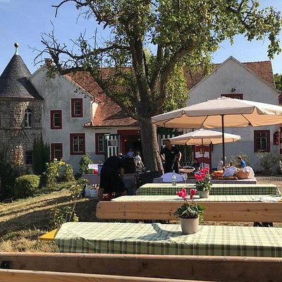 Weingut Schloss Westerhaus, where we were invited by the countess for a fantastic lunch on Day 2 of the Opel 50GT Grand Tour.