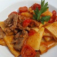 (leicht) scharfe Pasta mit Filetspitzen