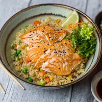 teriyaki salmon donburi