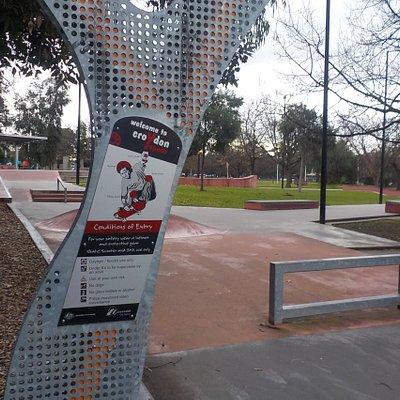Skate park sign