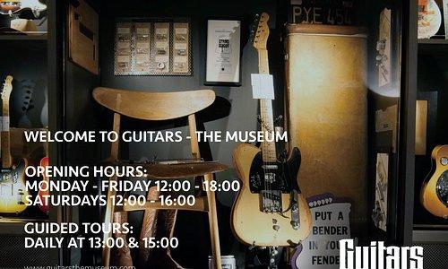 Welcome to Guitars - The Museum. Umeå. Sweden. Location: Skolgatan 59. Vasaplan (the attic at Umeå Folkets Hus)